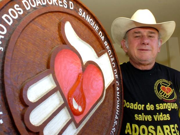 Homem doou sangue 187 vezes entre 1958 e 2006 (Foto: Diego Redel/Agência RBS)