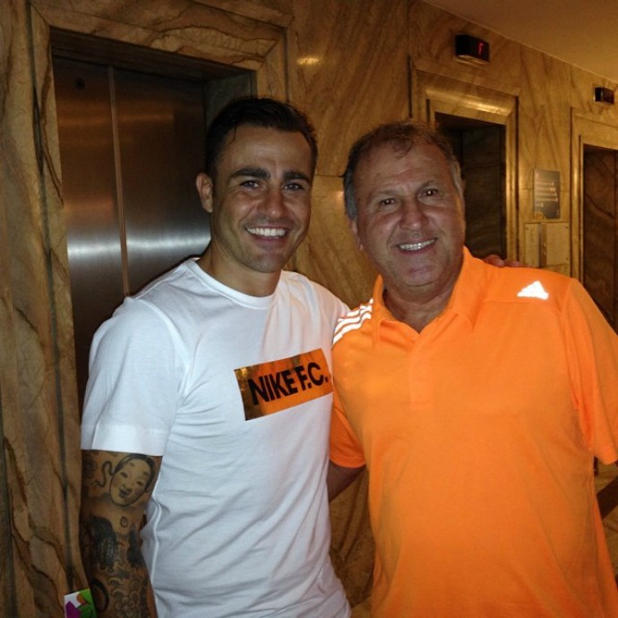 Cannavaro e Zico (Foto: Reprodução / Instagram)