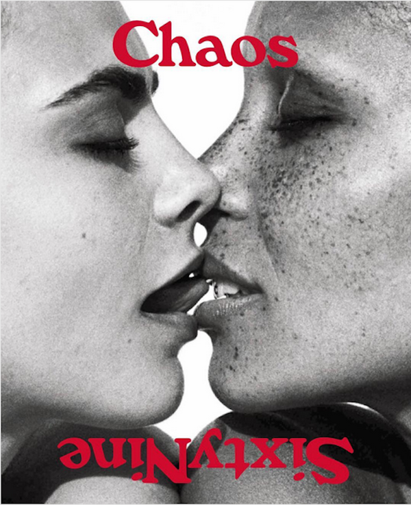 As modelos Cara Delevingne e Adwoa Aboah no ensaio da revista Chaos Sixty Nine (Foto: Instagram)