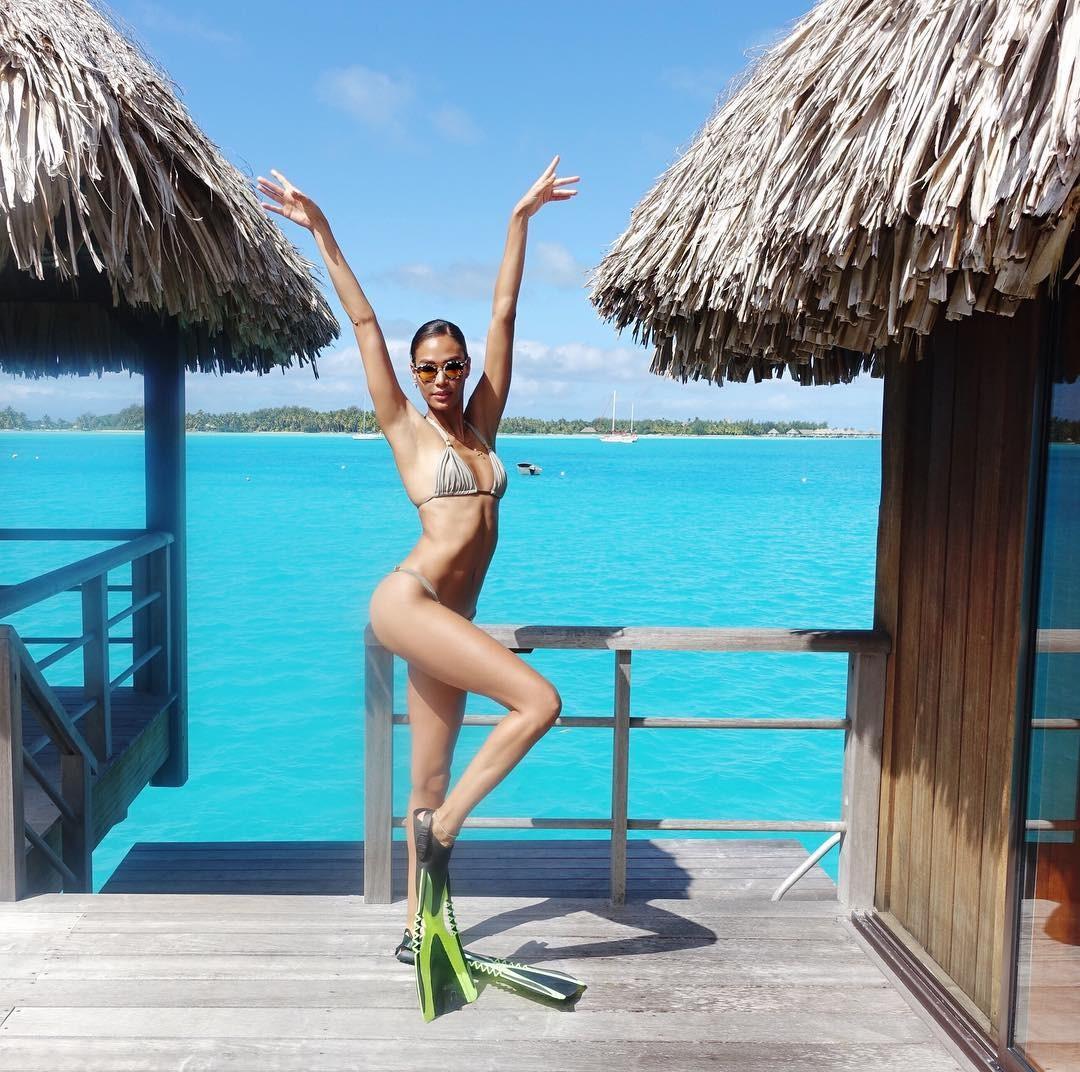 Joan Smalls em Bora Bora (Foto: Reprodução/Instagram)