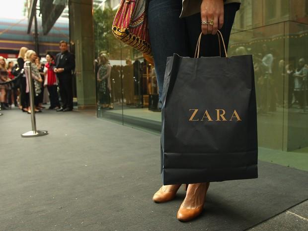 Sacola da Zara (Foto: getty images)