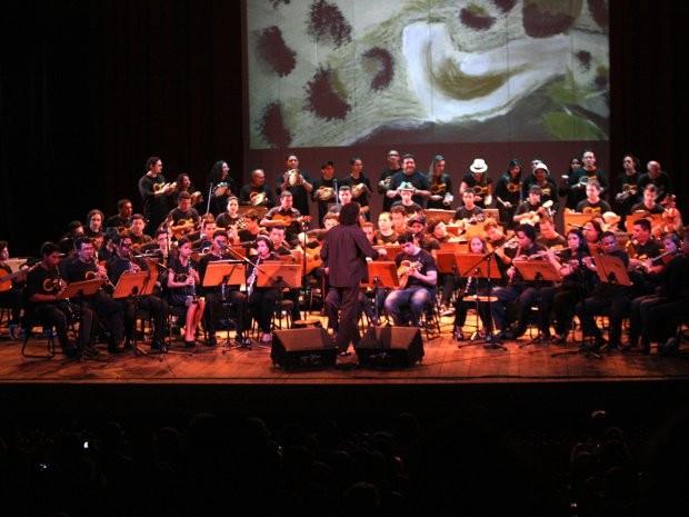Orquestra Choro do Pará foi formada nas oficinas de música da Fundação Curro Velho. (Foto: Carlos Sodré /Agência Pará)