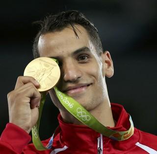 Ahmad Abughaush da Jordânia, ouro, taekwondo (Foto: Reuters/ Issei Kato )