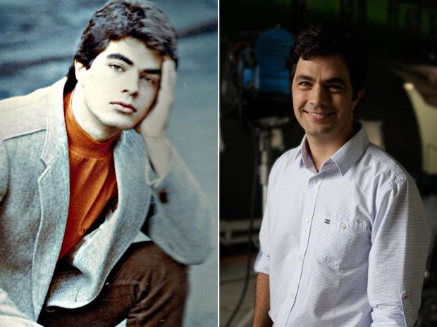 Marcelo veste o mesmo manequim da época de paquito (Foto: Arquivo pessoal e Rede Globo / Divulgação)