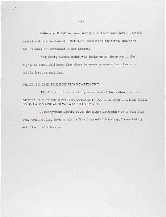 O discurso original escrito por William Safire para Nixon (Foto: Reprodução)