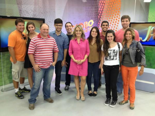 Rbs Tv Sala De Redacao ~  diversos profissionais de comunicação (Foto Sonia CamposRBS TV