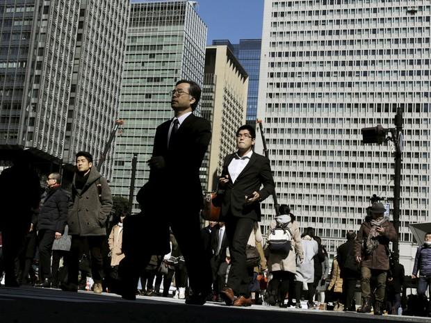 Área financeira de Tóquio, no Japão. (Foto: Reuters)