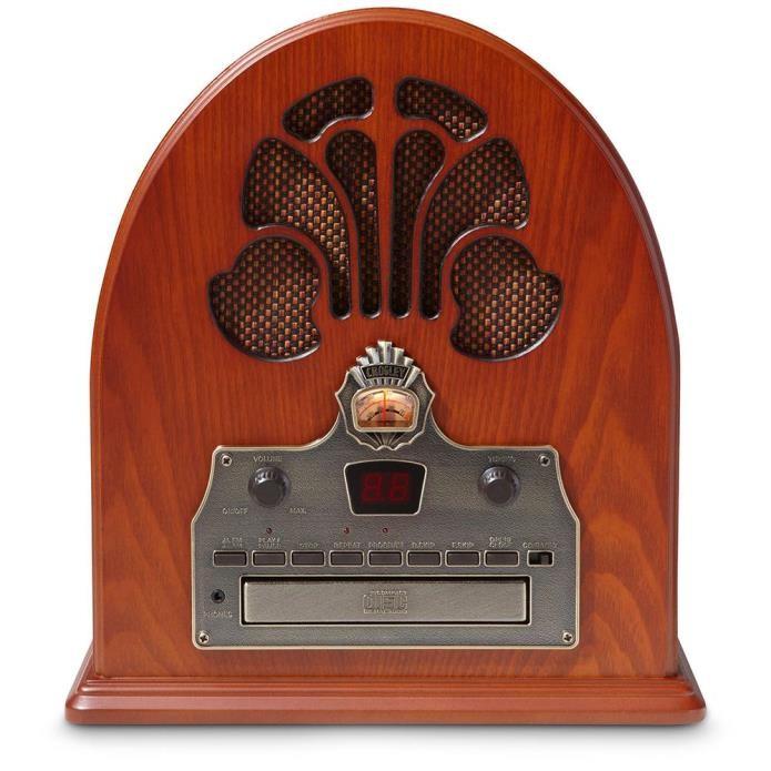 O rádio Cathedral Crosley sintoniza AM/FM e possui leitor de CD (Foto: Divulgação)