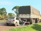 Motorista morre após ficar preso em traseira de caminhão em Cravinhos