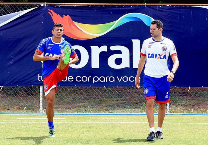 Bahia; Edson; treino; Fazendão (Foto: Felipe Oliveira / Divulgação / EC Bahia)