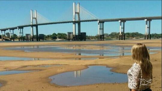 Diminui o nível de água do Rio Tocantins em Imperatriz