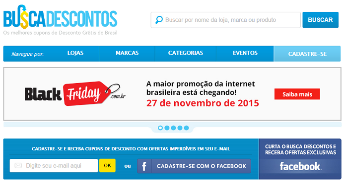Busca Descontos é o site oficial da Black Friday no Brasil (Foto: Reprodução/Aline Jesus)