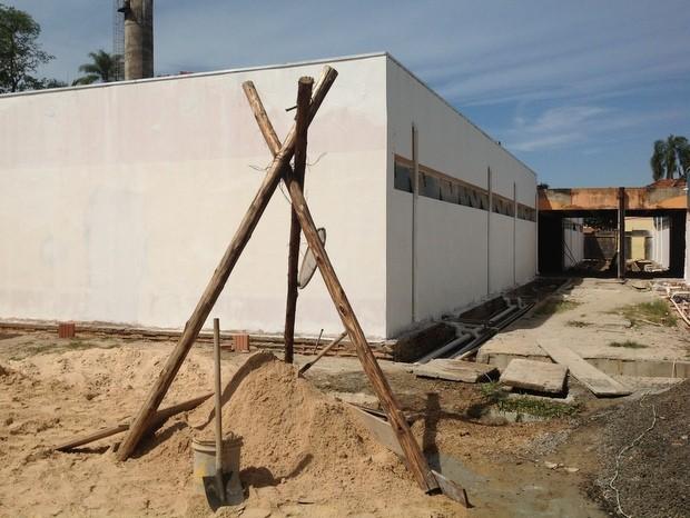Obras do balneário de Águas de São Pedro devem acabar em dois meses (Foto: Sandra Dias)