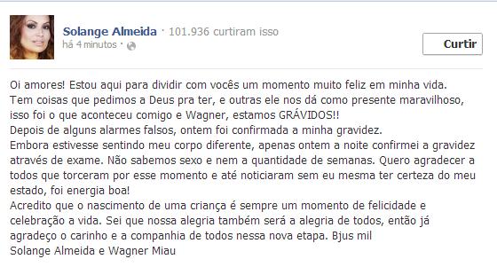 Solange Gomes (Foto: Reprodução / Facebook)