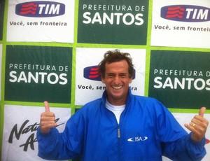 Cisco Araña é destaque no Circuito Paulista de Longboard Master (Foto: Adelino Gonçalves / Divulgação)