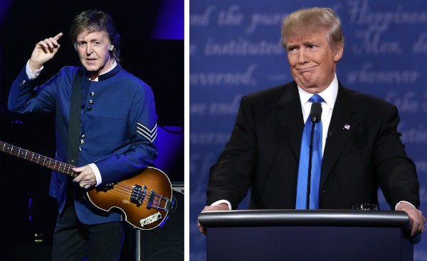 O cantor Paul McCartney e o empresário Donald Trump (Foto: Getty Images)