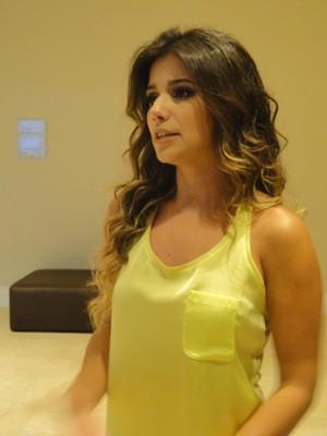 Paula Fernandes conversou com exclusividade com a equipe do G1 (Foto: Alexandre Lopes / G1)