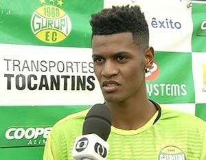 Jogador do Gurupi  (Foto: Reprodução/TV Anhanguera)