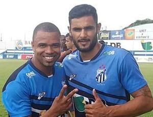 Nadson (esq.) e Rafael Magalhães (dir.), atacantes URT de Patos de Minas (Foto: URT/Divulgação)