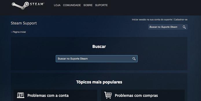 Steam Support: resolva problemas da plataforma com a