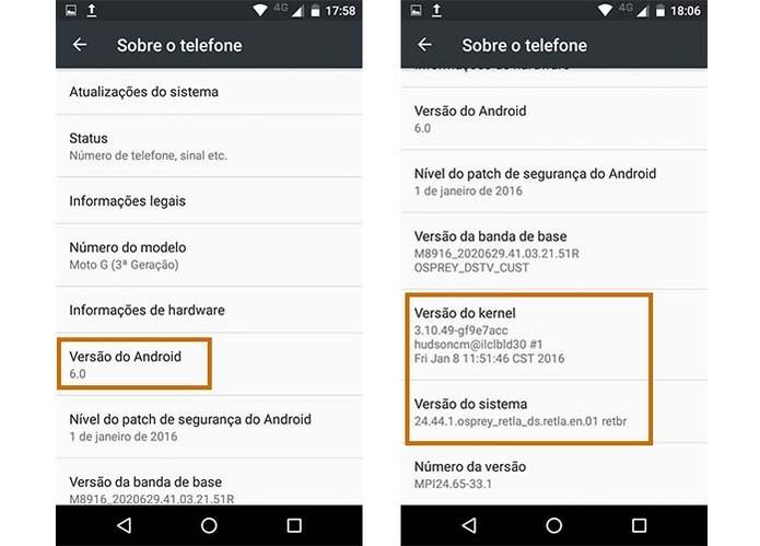 481cc3014f0 Confira a versão do Android no Moto G 3 (Foto  Reprodução Barbara Mannara