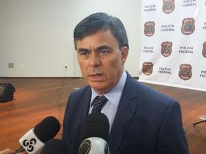 Raimundo Freitas, superintendente da PF no Amapá (Foto: John Pacheco/G1)