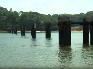 Ponte, rio Jari, Laranjal do Jari, Amapá (Foto: Reprodução/Rede Amazônica no Amapá)