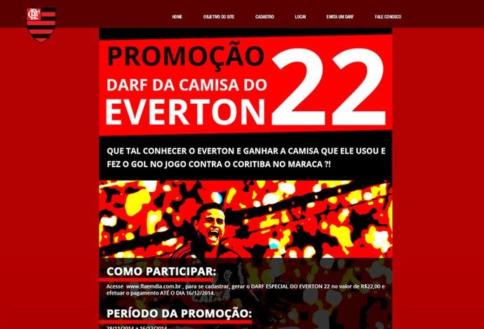 Promoção Everton Flamengo (Foto: Reprodução )