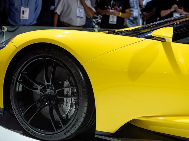 Ford GT é apresentado no Salão do Automóvel de São Paulo 2016 (Foto: Flavio Moraes/G1)