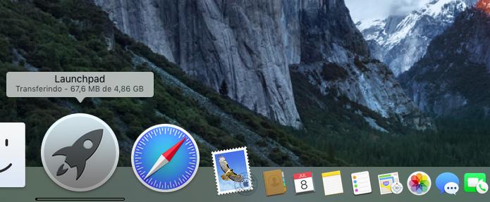 Acompanhando o download do macOS Sierra no Launchpad (Foto: Reprodução/Edivaldo Brito)