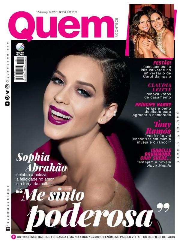 Sophia Abrahão é capa da QUEM (Foto: Marcos Rosa/Ed. Globo)