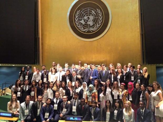 70 jovens de nações diferentes foram selecionados (Foto: Arquivo Pessoal)
