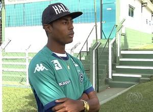Bruno Henrique - atacante Goiás (Foto: Reprodução / TV Anhanguera)