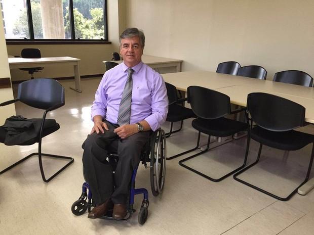 Geraldo Nogueira é presidente da comissão de defesa dos direitos da pessoa com deficiência OAB-RJ (Foto: Patricia Teixeira/G1)