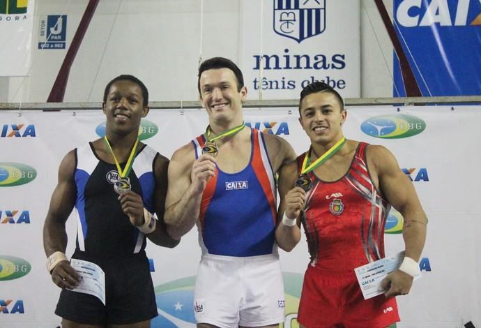 Diego Hypolito ouro brasileiro de ginástica (Foto: July Stanzioni/SM Press)