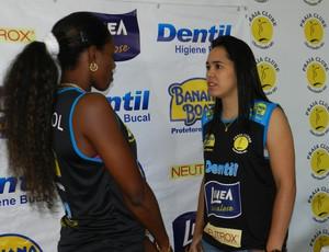 Ponteira Herrera e líbero Tássia chegam ao Praia Clube (Foto: Caroline Aleixo/GLOBOESPORTE.COM)