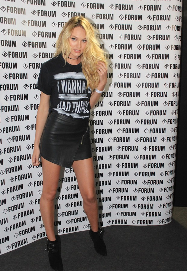 Candice Swanepoel no SPFW (Foto: Celso Tavares / EGO)