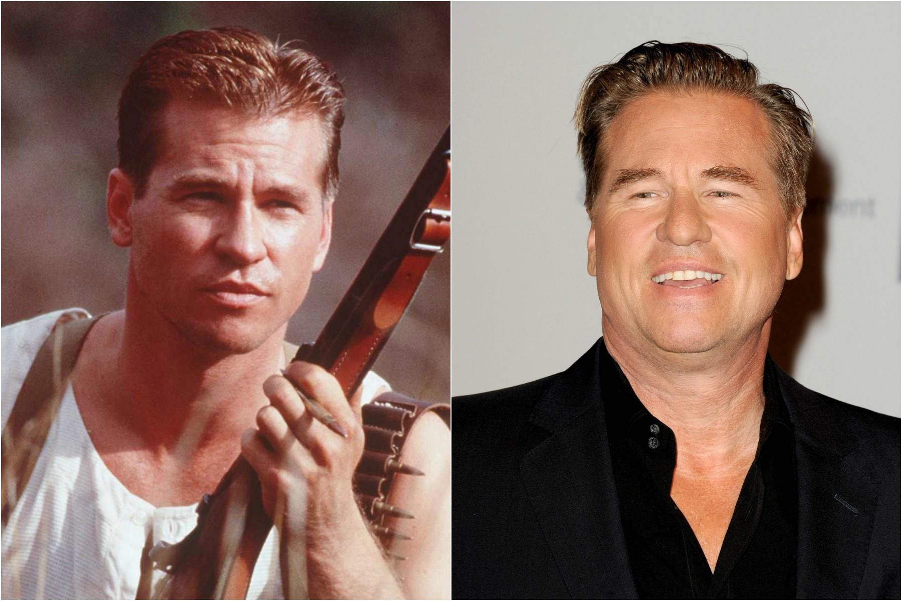 O ator Val Kilmer em 1996 e em 2013. (Foto: Getty Images)