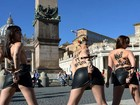 Ativistas do Femen protestam contra visita do Papa a Estrasburgo