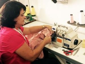 Costureira empresária (Foto: Arquivo pessoal)