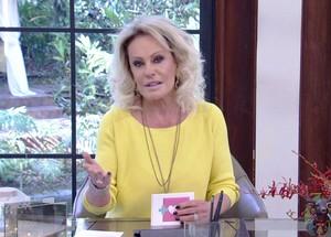 Ana Maria se emociona no 'Mais Você' (Foto: TV Globo)