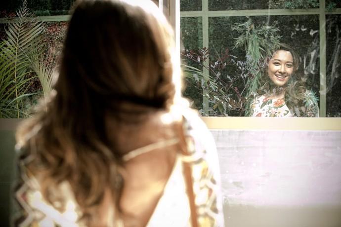 E Jacqueline tem na natureza a dua conexão com Deus (Foto: Raphael Dias / Gshow)