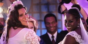 'Bebê vem em três anos', diz casal de noivas do Rock in Rio (Fábio Tito/G1)