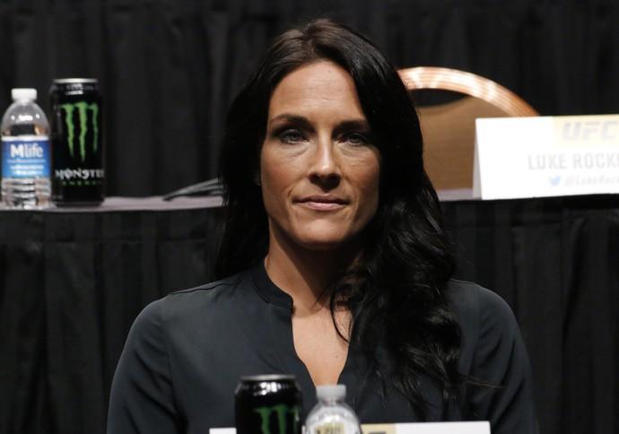 Valerie Letourneau Coletiva Go Big UFC (Foto: Evelyn Rodrigues)