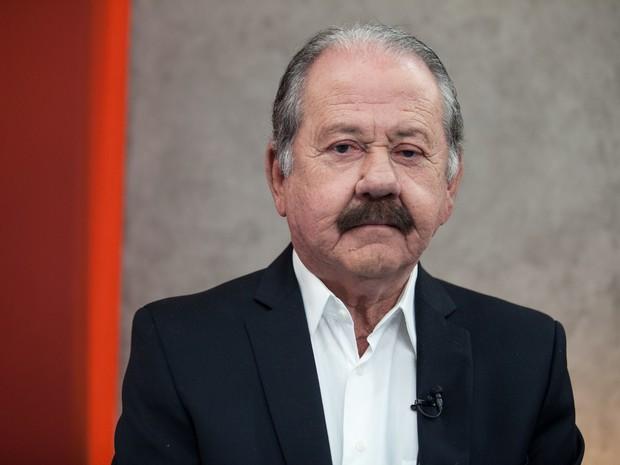 O candidato do PSDB à Prefeitura de Osasco (SP), Celso Giglio, participa de debate no estúdio do G1 em São Paulo (Foto: Marcelo Brandt/G1)