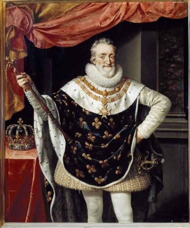 Pintura que retrata o Rei Henrique IV, que permaneceu no trono da França entre 1553-1610 (Foto: Leemage/AFP)