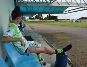 Atacante Rafael Pato sente dores na coxa (Foto: Roger Henrique)