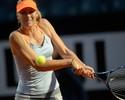 Sharapova fica perto do 'pneu', vence Stephens e vai às quartas em Roma