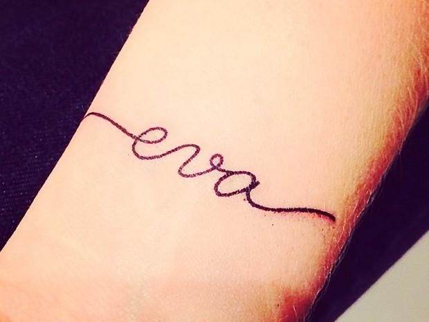 Tatuagem de Angélica (Foto: Instagram / Reprodução)