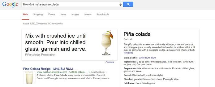 Os drinks e coquetéis mais famosos estão incluídos na busca (Foto: Reprodução/Barbara Mannara)